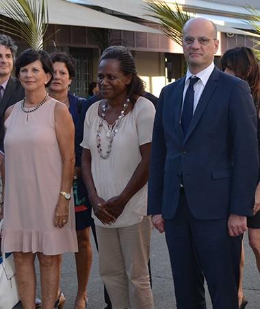 Le ministre de l'Éducation nationale, Jean-Michel Blanquer, a visité le collège Baudoux vendredi 4 mai.