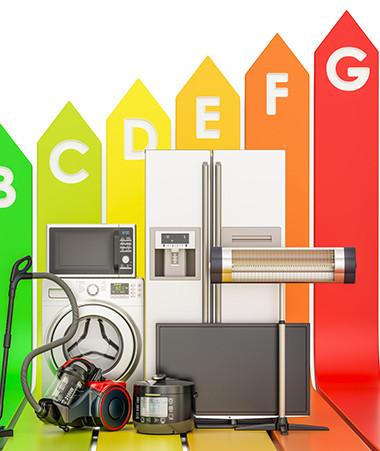 L'étiquette énergétique informe le consommateur sur la performance énergétique des appareils.