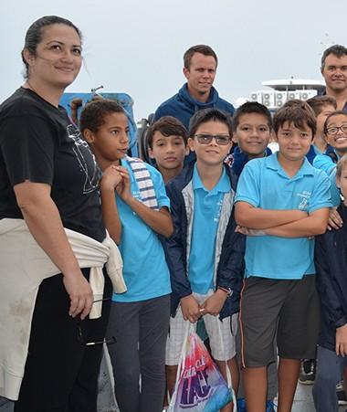 Pendant leur visite de l'Amborella, les CM2 de l'école Suzanne Russier ont aussi découvert le Parc naturel de la mer de Corail.