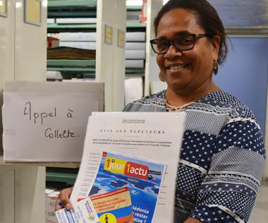 Ingrid Waneux-Utchaou, la chef du service des Archives, espère collecter davantage de documents sur le référendum en format papier.