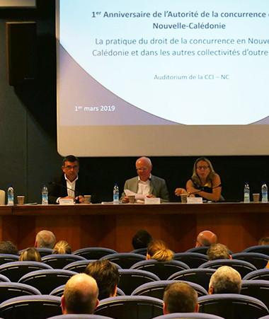 Le colloque s'est tenu dans l'auditorium de la CCI face à un public composé d'acteurs économiques et d'étudiants en droit.