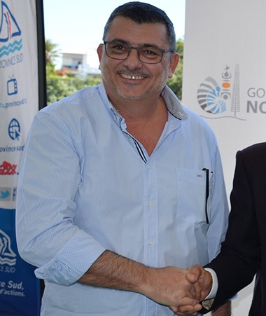 Philippe Germain, Jean-Pierre Aïfa et Nicolas Metzdorf, conseiller de la province Sud qui a signé une convention similaire.