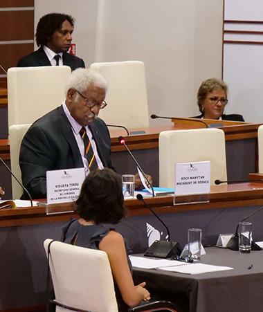 Roch Wamytan, en tant que doyen, a présidé la séance.