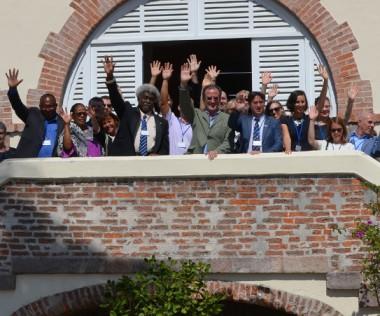 Les invités du 10e Forum francophone du Pacifique : représentants d'Alliances françaises de l'Asie-Pacifique, conseillers de coopération d'actions culturelles, professeurs de français langue étrangère, etc.