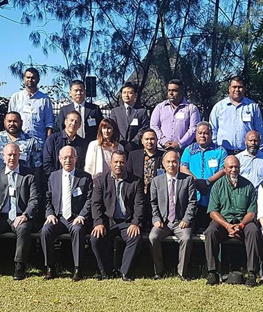 Les participants au 17e Comité des cyclones tropicaux, à la CPS.