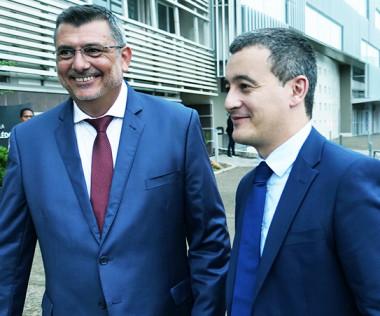 Le président Germain a reçu le ministre Gérald Darmanin au gouvernement.