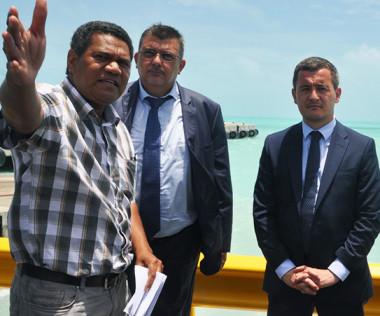 À Ouvéa, en présence de Philippe Germain, Gérald Darmanin a pu apprécier les projets réalisés sur l'île notamment grâce à l'aide de l'État via la défiscalisation ou les contrats de développement.