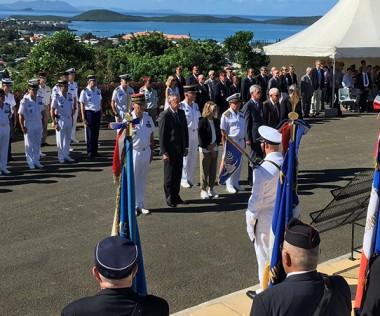 La cérémonie s'est déroulée devant la Croix de Lorraine.