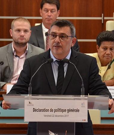 Durant environ une heure et demie, Philippe Germain a balayé les principales mesures et réformes que son gouvernement mettra en œuvre d'ici à la fin de la mandature.
