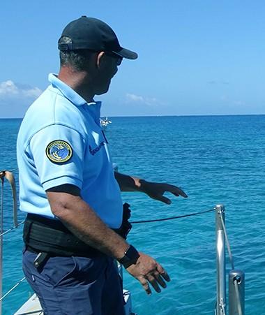 La gendarmerie maritime, un des acteurs de l'opération coordonnée par la direction des Affaires maritimes du gouvernement.