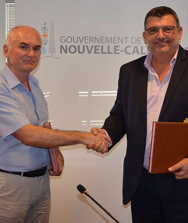 Guy Quillévéré, président du tribunal administratif de Nouvelle-Calédonie et Philippe Germain, président du gouvernement.