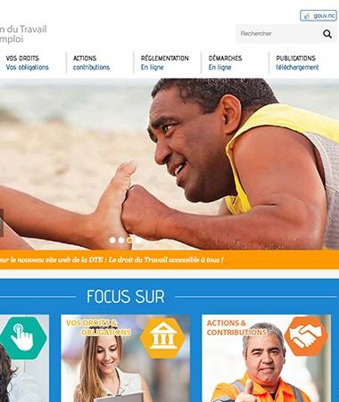 Le nouveau site Internet de la direction de l'Emploi et du travail de la Nouvelle-Calédonie est en ligne.