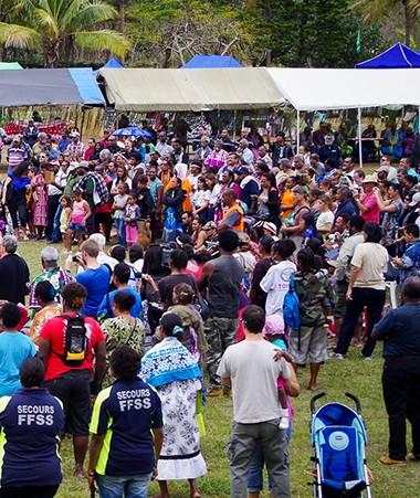 En 2015, le public était venu nombreux à la Fête de la citoyenneté à la tribu de N'Dé à Païta.
