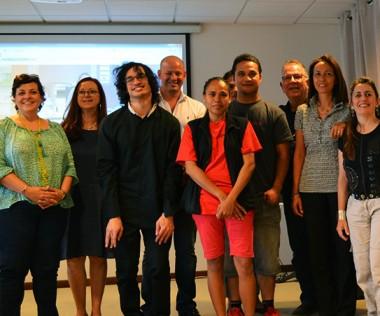 Représentants des associations et des organisations patronales, et personnes en situation de handicap entouraient Christopher Gygès pour ce lancement.