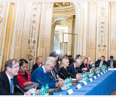 Le Premier ministre a ouvert les travaux du 17e comité des signataires à l'Hôtel de Cassini à Paris (© Florian David/Matignon).