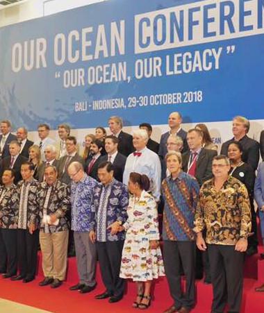 Le thème de la 5e conférence « Our ocean » est « Notre océan, notre héritage ».