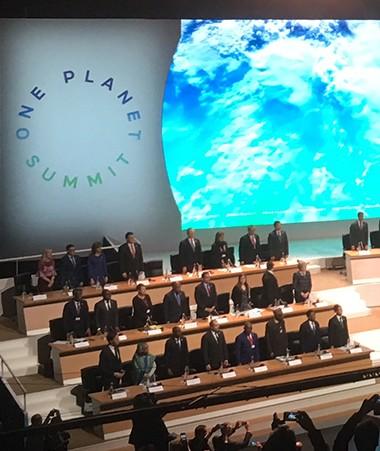 Le One Planet Summit  a rassemblé une soixantaine de chefs d'États et de gouvernement.