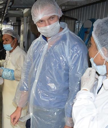Nicolas Metzdorf a visité les ateliers de transformation de Tuna Pacific et Pescana le 31 janvier.