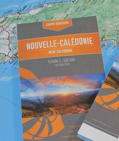 Remise à jour et étoffée, la carte routière de la Nouvelle-Calédonie est disponible à la DITTT et dans une vingtaine de commerces.