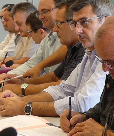La signature du protocole d'accord s'est déroulée samedi 16 juin au matin dans les locaux du gouvernement. (© LNC/E.C.)