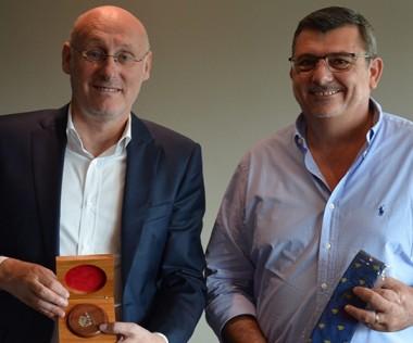Entre Bernard Laporte et Philippe Germain, un dialogue très constructif.