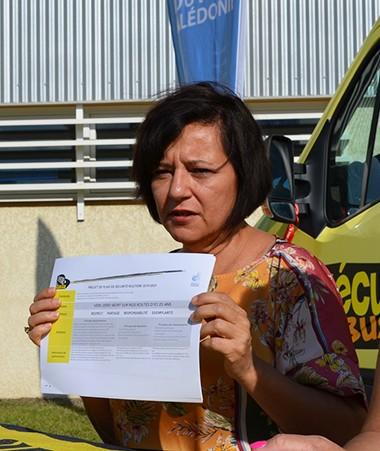 Cynthia Ligeard, membre du gouvernement, et Heidi Hénin, chargée de mission sécurité routière, ont présenté le plan qui sera proposé aux élus du Congrès.