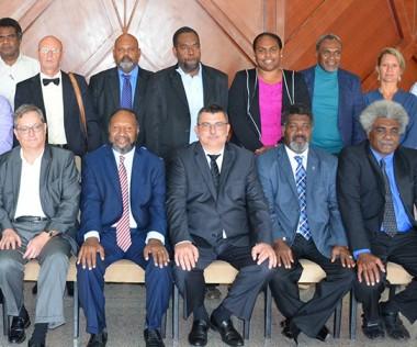 La commission de la convention de coopération régionale est co-présidée par le président du gouvernement Philippe Germain, le Premier ministre du Vanuatu, Charlot Salwai, et l'ambassadeur de France au Vanuatu, Gilles Favret.