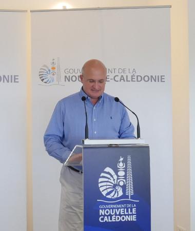 En charge notamment du budget au gouvernement, Yoann Lecourieux a présenté le compte administratif 2019 aux côté du porte-parole du gouvernement, Christopher Gygès.