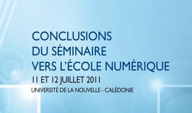 Vers l'Ecole numérique (conclusions).