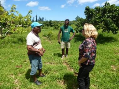 Sonia Backes à la rencontre des agriculteurs maréens