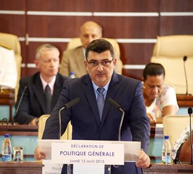 Déclaration de politique générale du 13/04/2015 de M. Philippe Germain
