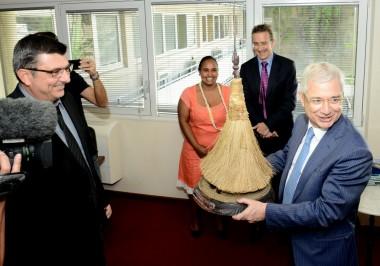 Claude Bartolone, Président de l'Assemblée Nationale, en visite au Gouvernement