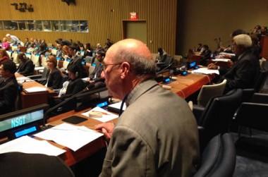 Thierry Cornaille rassurant à l'ONU