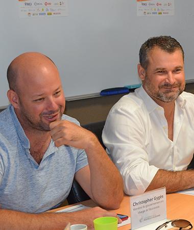 Isabelle Champmoreau et Christopher Gygès ont représenté le gouvernement, partenaire de cet évènement aux côtés de la BCI, d'Enercal, de NC1ère et de Mobilis.