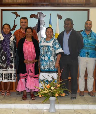 """L'équipe """"Action santé en communauté"""" à l'assemblée de la province des Îles Loyauté, vendredi 7 août."""
