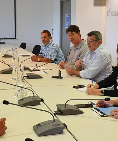 Les représentants de l'USOENC ont été reçus le 17 septembre au gouvernement par Thierry Santa, Jean-Louis d'Anglebermes et Philippe Germain.