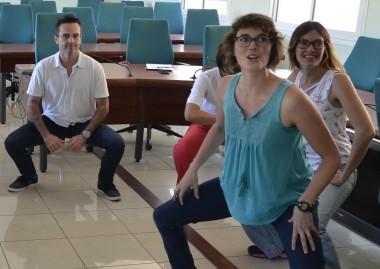 De nombreux ateliers étaient proposés aux agents de la Nouvelle-Calédonie durant la semaine pour la qualité de vie au travail. Ici, un atelier sur les gestes et postures au travail.