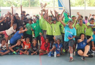Les participants, jeunes et adultes, étaient ravis de ce premier challenge sportif à Thio, encadré par les éducateurs sportifs du dispositif « Sport pour tous ».