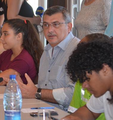 Philippe Germain a longuement reçu lycéens et collégiens du Grand Nouméa.