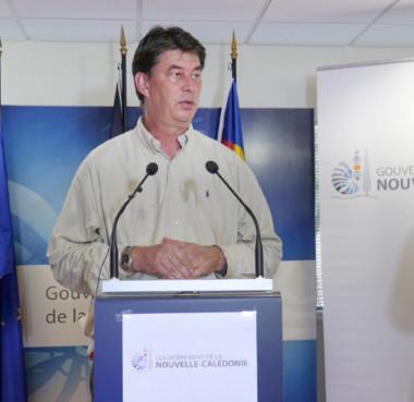 Thierry Santa s'est adressé aux Calédoniens le lundi 30 mars lors du point presse du gouvernement dédié à la gestion de la crise du coronavirus Covid-19.