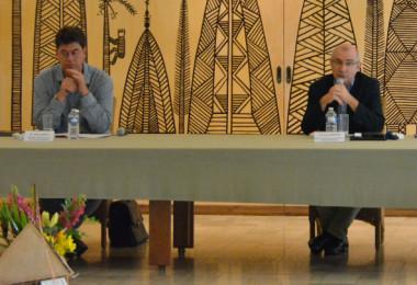 Le président du gouvernement Thierry Santa, le haut-commissaire Laurent Prévost et le procureur de la République Yves Dupas ont présidé le COTAF du 30 avril (© photos HCR).