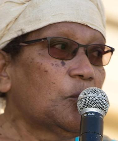 Déwé Gorodey, membre du gouvernement en charge du secteur de la condition féminine, a prononcé un discours à l'occasion de l'ouverture de la 12e édition de la Journée internationale de la femme, à Poindimié.