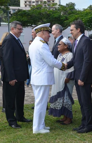 Aux côtés de Philippe Germain, Thierry Lataste a salué les membres du gouvernement présents à la cérémonie.