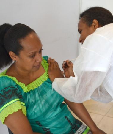 Un peu plus de 116 000 doses de vaccin contre le Covid-19 ont été administrées depuis le début de la campagne. Ici au vaccinodrome de Nouméa le 26 juin.