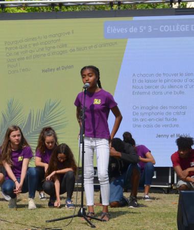 Des poèmes du concours Îles Lettrées 2020 ont été lus par les élèves lors des Journées francophones du Pacifique, organisées par le CREIPAC, à l'initiative du gouvernement.