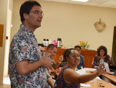 David Wilgenbus a dispensé au Creipac une formation de 18 heures à des enseignants du 1er degré.