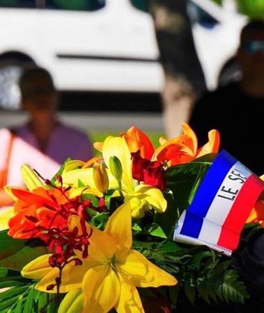 La cérémonie a rassemblé les représentants des institutions civiles et militaires et la communauté des Antilles-Guyane. ©HC988.