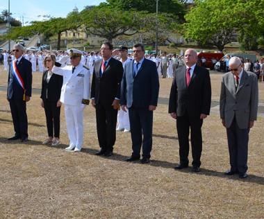 La commémoration du 11 novembre s'est déroulée en présence du président du gouvernement Philippe Germain.