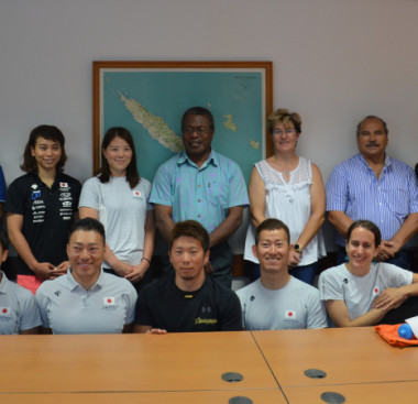Avant son étape calédonienne, l'équipe japonaise a remporté deux manches de la Coupe du monde de cyclisme sur piste en Nouvelle-Zélande et en Australie.