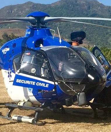 Un hélicoptère bombardier d'eau (HBE) a été mobilisé pour la formation.
